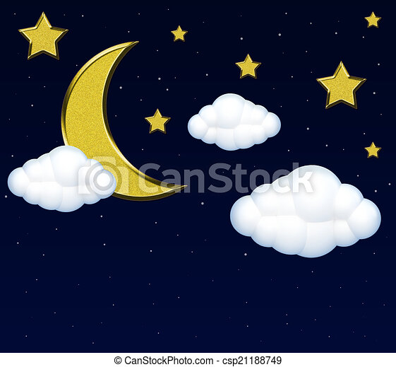 Night Sky Drawing For Kids