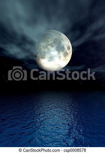 Moonlight Ocean - csp0008578