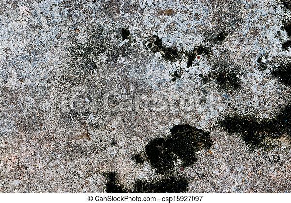 moos, bereich, groß, zement, oberfläche, hintergrund - csp15927097