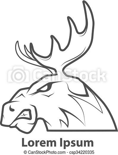 moose head profile - csp34220335