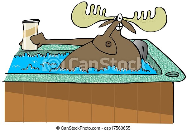 moose in a hot tub this illustration depicts a moose washing hands clipart outline washing hands clipart png