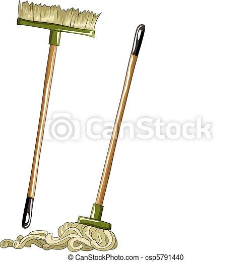 Mop and broom - csp5791440