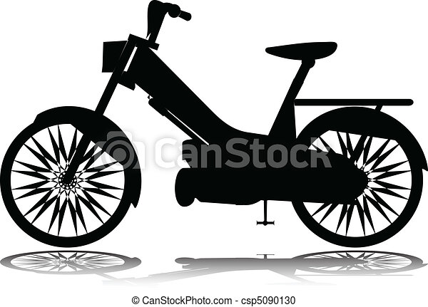 moped vector silhouettes - csp5090130