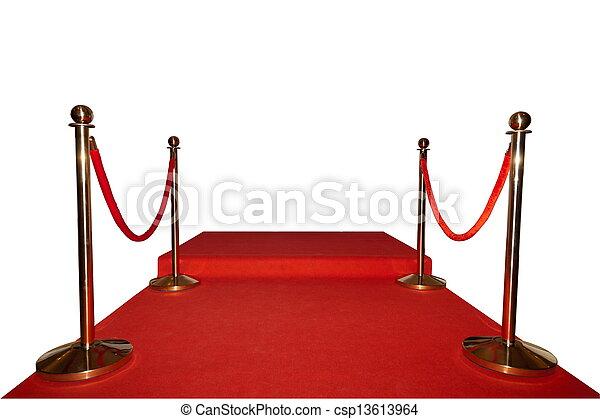 moquette, isolé, rouges, événement - csp13613964