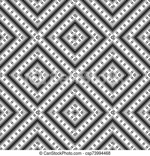 moquette, papier peint, couleurs, noir, texture, vecteur, rhombs, blanc, ou, ethnique, pattern. - csp73994468