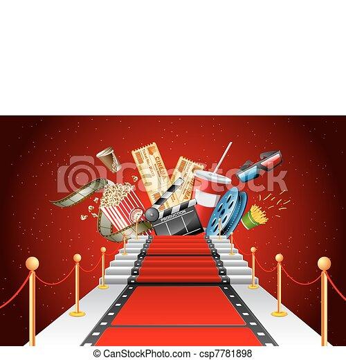 moquette, rouges, divertissement - csp7781898