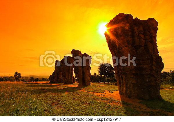 Mor Hin Khao, Stonehenge of Thailand in Chaiyaphum Province - csp12427917