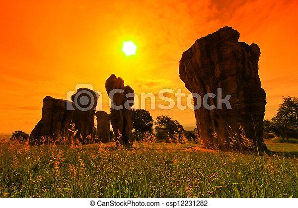 Mor Hin Khao, Stonehenge of Thailand in Chaiyaphum Province - csp12231282