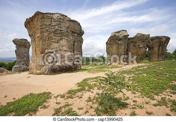 Mor Hin Khao, Stonehenge of Thailand, Chaiyaphum  - csp13990425