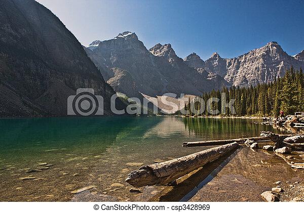 Moraine Lake - Banff National Park - Alberta - Canada - csp3428969