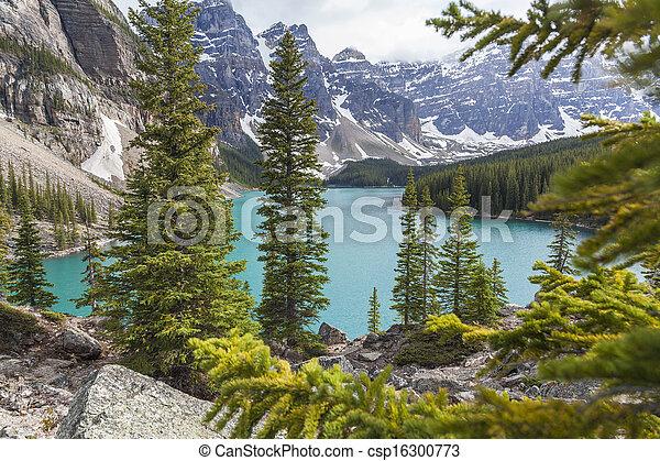 Moraine Lake, Banff National Park, Alberta, Canada - csp16300773