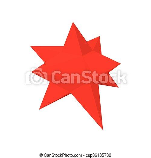 Moravian star star icon, cartoon style - csp36185732