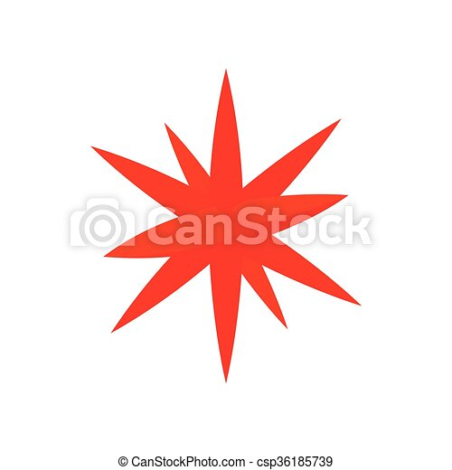 Moravian star star icon, cartoon style - csp36185739