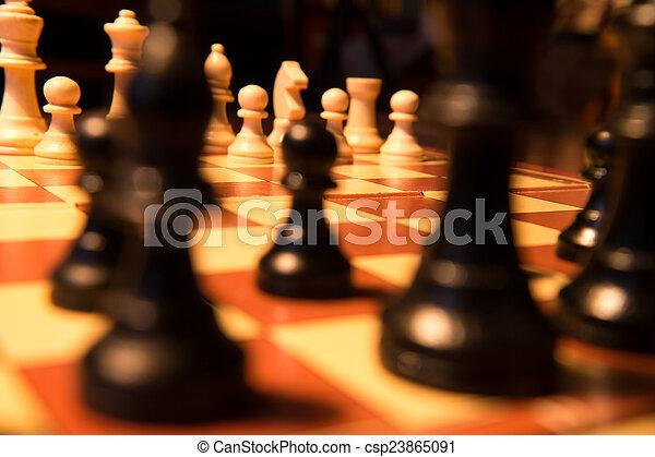 morceaux échecs - csp23865091