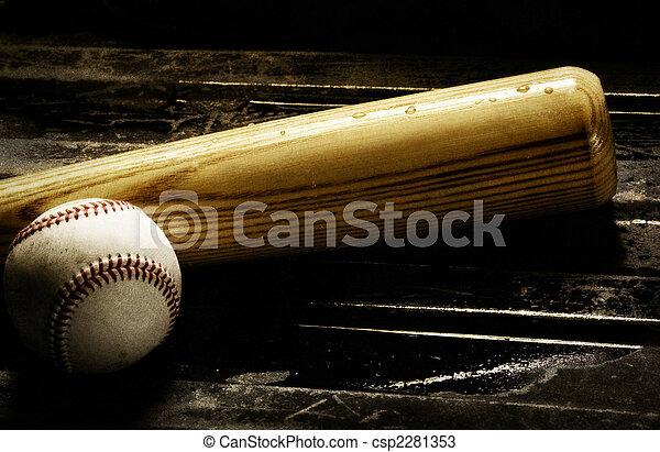 morcego, basebol - csp2281353