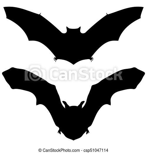Morcego Halloween Silueta Fundo Branco Morcego Silueta Dia