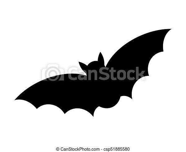 morcego silueta dia das bruxas isolado vetorial desenho fundo