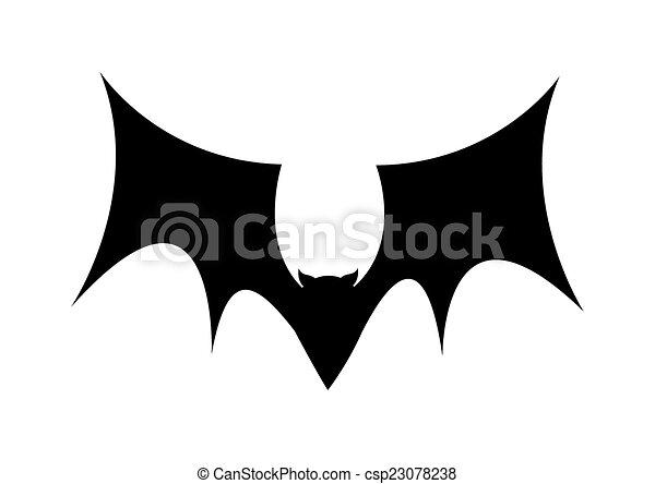 morcego voando desenho forma morcego silueta spooky voando