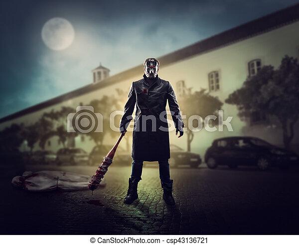 Serienmäßig morde horror straßen serienmäßig streets horror stockfoto
