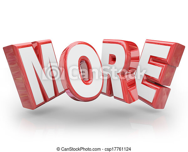 More 3d word increase improve larger bigger demand more for More clipart