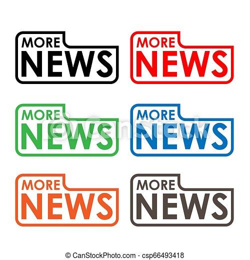 More news stock label, flat design. Colorful icon - csp66493418