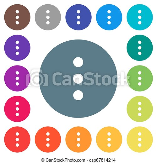 More options flat white icons on round color backgrounds - csp67814214