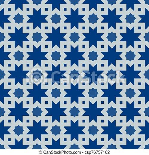 morisco, clásico, seamless, ornamento, azul - csp76757162