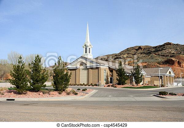 Mormon Church in Gunlock Utah - csp4545429