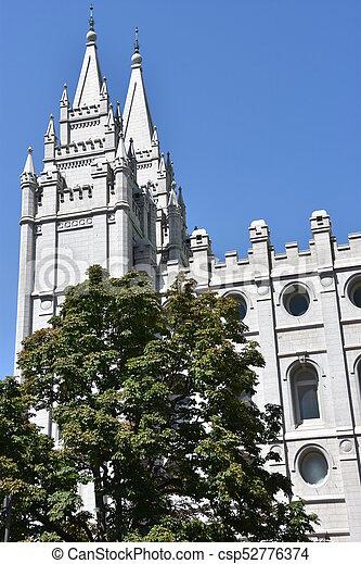 Mormon Temple in Salt Lake City - csp52776374