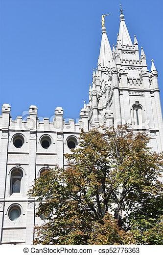 Mormon Temple in Salt Lake City - csp52776363
