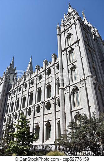 Mormon Temple in Salt Lake City - csp52776159
