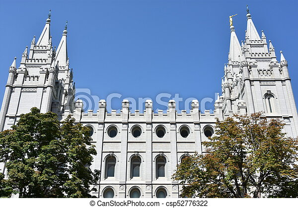 Mormon Temple in Salt Lake City - csp52776322