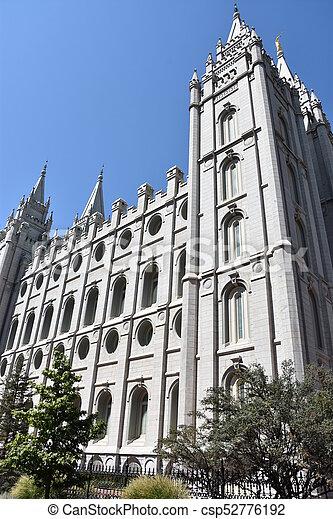Mormon Temple in Salt Lake City - csp52776192