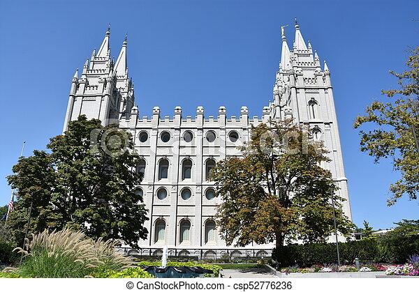 Mormon Temple in Salt Lake City - csp52776236
