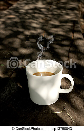 morning coffee. - csp13790043