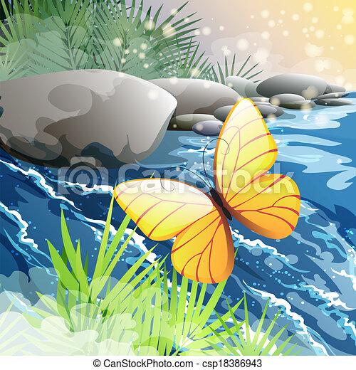 Morning creek - csp18386943
