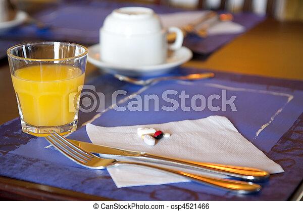 Morning dose of pills - csp4521466