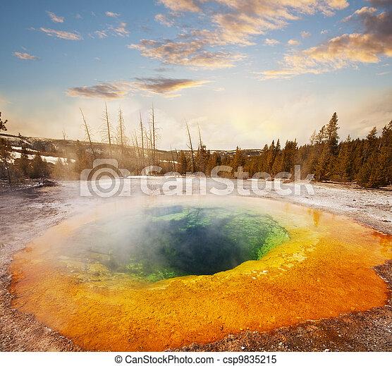 Morning Glory Pool - csp9835215
