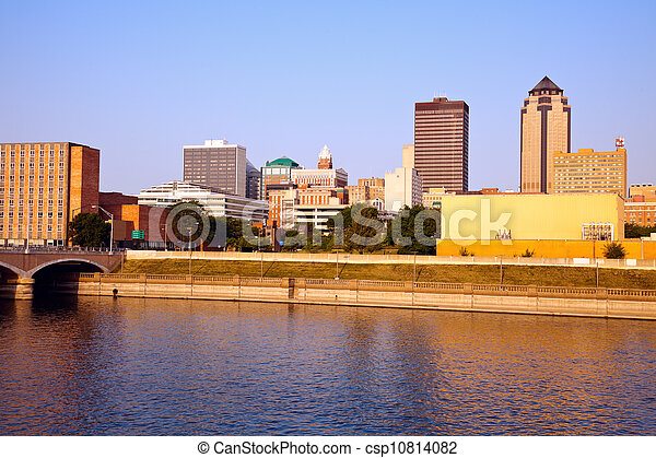 Morning in Des Moines - csp10814082