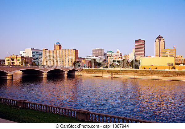 Morning in Des Moines - csp11067944