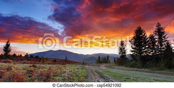 morning in mountains - csp54921092