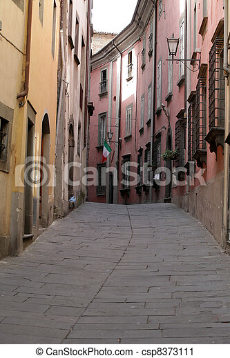 Morning in the Tuscan town. Tuscany. Italy - csp8373111