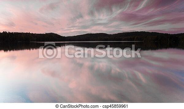 Morning lake - csp45859961