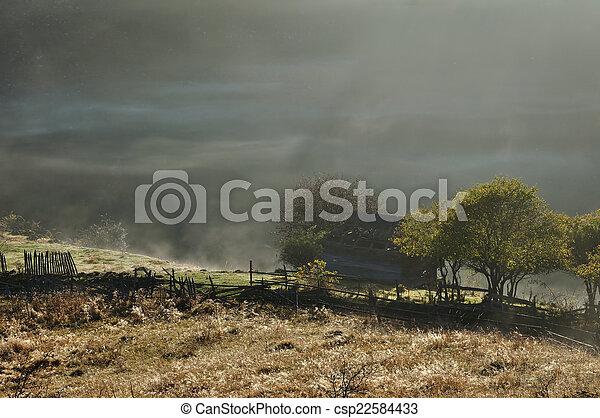 Morning mist  - csp22584433