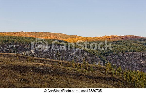 morning mountains - csp17830735