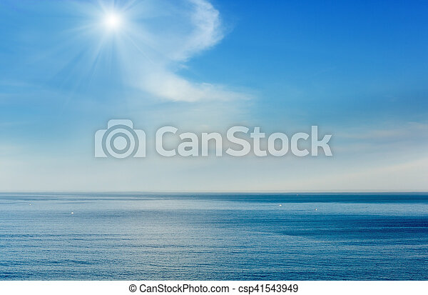 Morning ocean view from shore (Bay of Biscay). - csp41543949