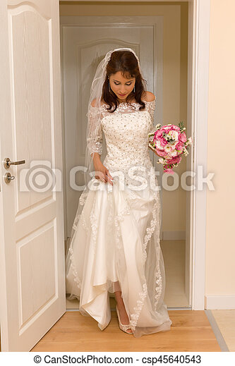 Morning of the wedding day - csp45640543