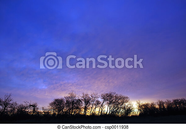 Morning Prairie Sky - csp0011938