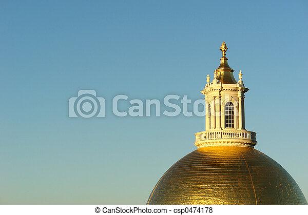 Morning Sun on golden dome - csp0474178