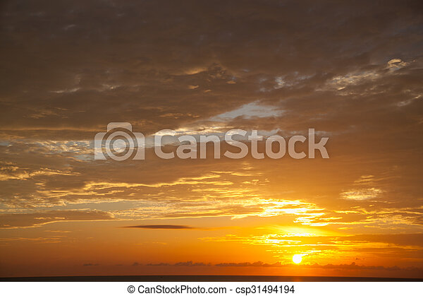 morning sunrise - csp31494194